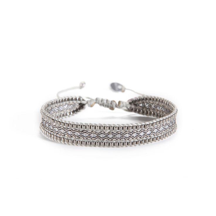Bracelet CANAL SILVER BEIGE GREY