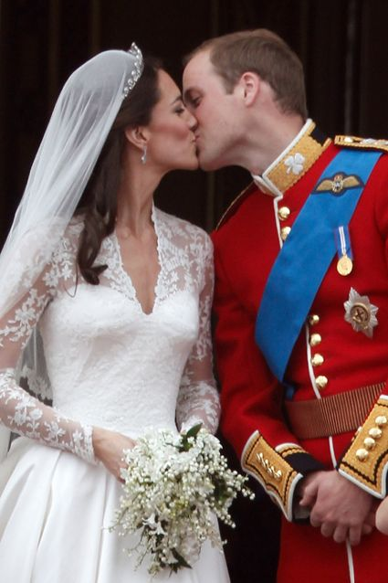 9 Best Celeb Wedding Dresses - A princess has to have the perfect dress, and Catherine, Duchess of Cambridge, certainly did. After months of speculation, Kate married Prince William on April 29, 2011, in a stunning long-sleeve lace Alexander McQueen creation. The tiara wasn't too shabby either.