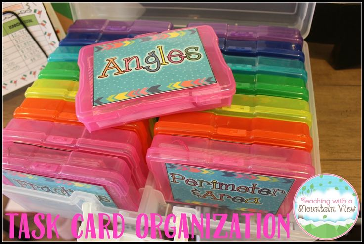 An easier way to store and organize task cards!