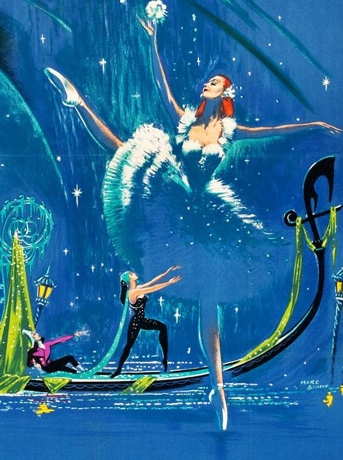 Movie poster (detail) for The Tales of Hoffman (1951) Illustrated by Marc Stone