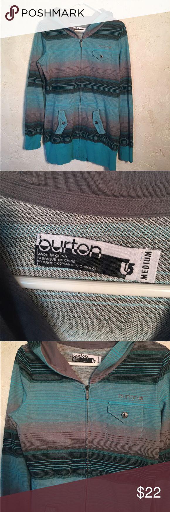 Men's Burton zip hoodie Men's Burton medium zip hoodie. The pocket looks like the stitching might be starting to come loose as seen in photo.              08 Burton Shirts Sweatshirts & Hoodies