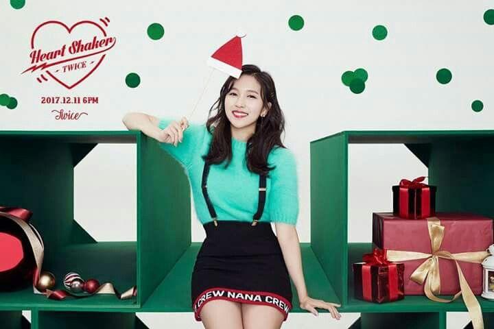 TWICE -1st Album Repackage #Mina #Merry&Happy #Heart Shaker