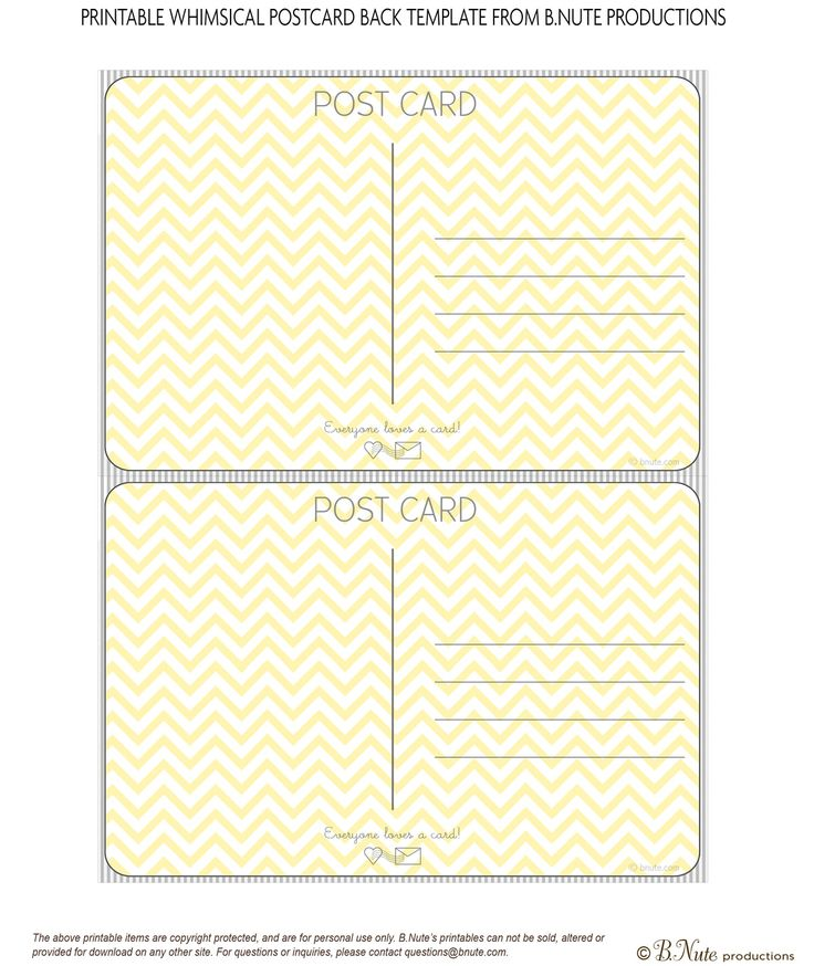The 25+ best Printable postcards ideas on Pinterest What does - postcard format template