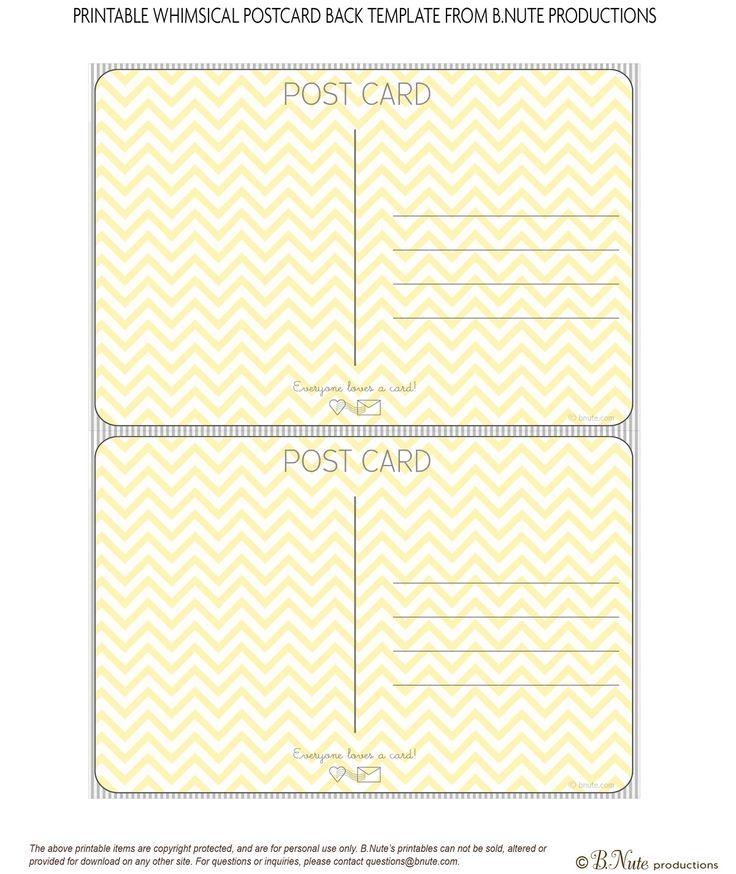 15 best Postcard hátsó images on Pinterest Postcard template - printable postcard template free