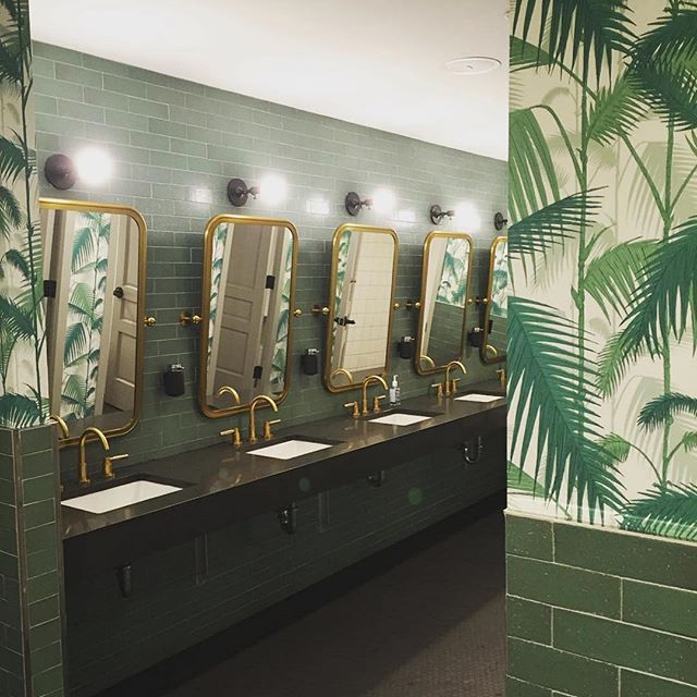 dreamy bathroom moment at wework captured by studioenvie in dswallpaper - Restroom Design