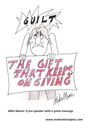 Mike Moore's Laughter Lounge : Cartoon: What is Guilt?