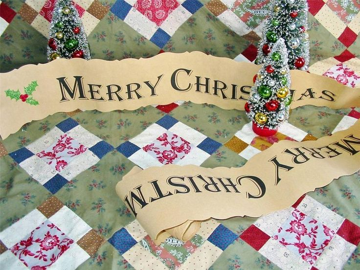 Christmas Paper Banner Garland Vintage Style Merry Christmas 178 inches!