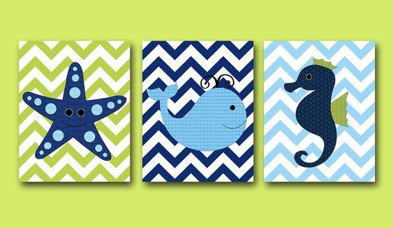 Whale+Baby+Boy+Nursery+Art+Nursery+wall+art+kids+by+artbynataera,+$60.00
