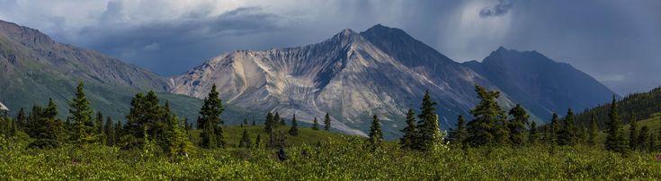 #alaska #clouds #donoho basin #landscape #national creek rock glacier #national park and preserve #panorama #porphyry mountain #rugged #scenery #scenic #snow #trees #usa #wilderness #wrangellst elias