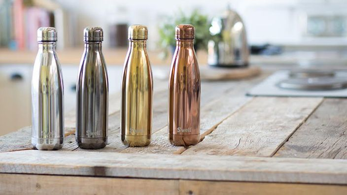 OK I admit $42 is a bit steep..BUT these gorgeous 17oz. reusable bottles guarantee they will keep your beverage cold for 24 hours...EVEN IN A HOT CAR. I may wait for the price to come down a bit, but this is on my wish list for next summer. S'well goes glam