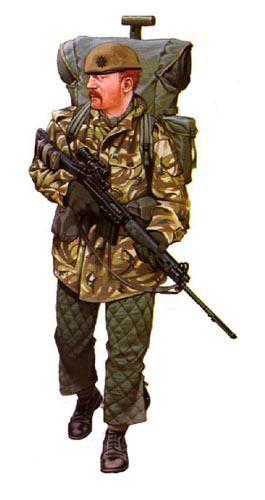 Soldado,5º Reg infanteria ,Islas Malvinas 1982.