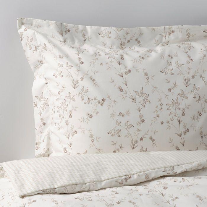 Strandfrane Duvet Cover And Pillowcase S White Light Beige Full Queen Double Queen Ikea Beige Duvet Duvet Covers Ikea Duvet