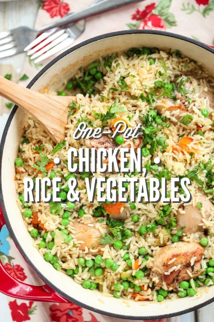 One Pot Chicken, Rice and Vegetables - Healthy, inexpensive, family-friendly, and one-pot!! This one-pot real food meal is a family favorite. No cans or processed ingredients.