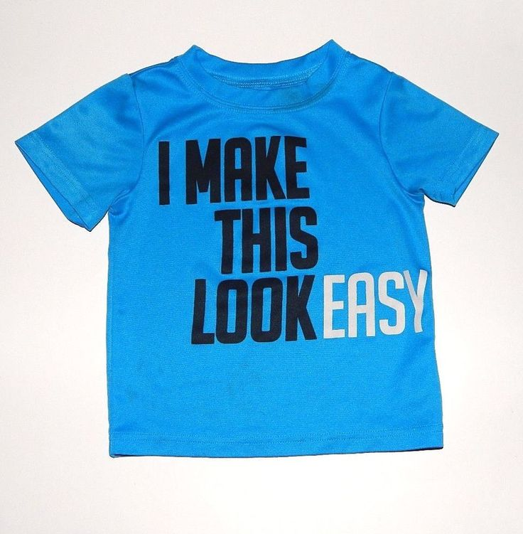 Carters Boys 2T Graphic Tee Style Top Shirt Blue Stretch  #Carters #Everyday