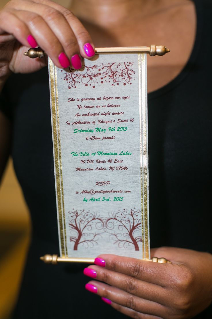 Image Result For Enchanted Forest Scroll Invitation