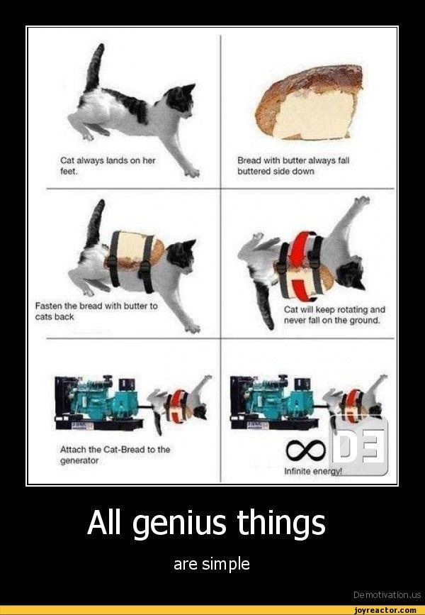 Cat-Bread infinite energy generation | Demotivational ...