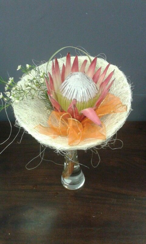 A Protea bouquet donated by Azalea Florist to the singers at the Kwela Town of the Year festival in Middelburg.
