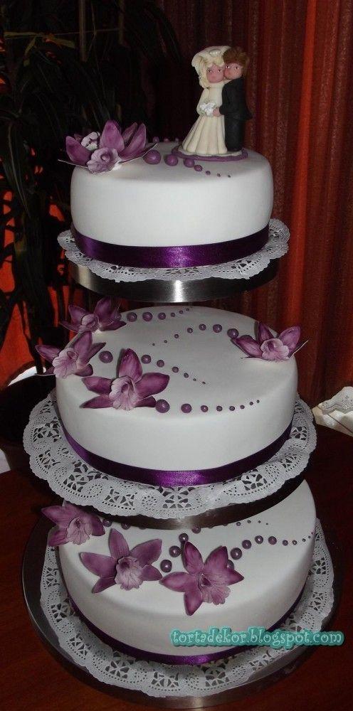 lila menyasszonyi torta - Google keresés: