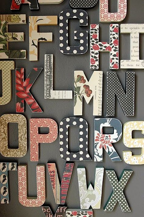 M s de 25 ideas incre bles sobre letras de madera en - Letras decorativas pared ...