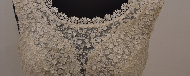 Vintage ivory embroidery