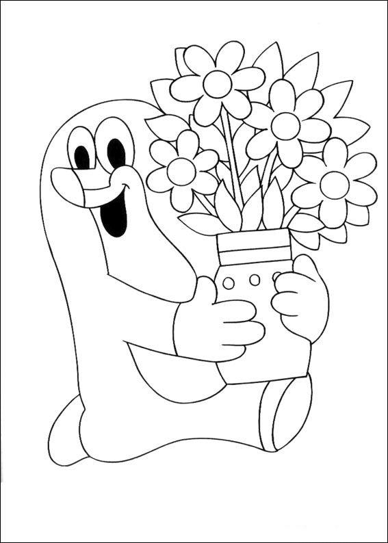 Krtek The Little Muldvarpen Tegninger til Farvelægning. Printbare Farvelægning for børn. Tegninger til udskriv og farve nº 6