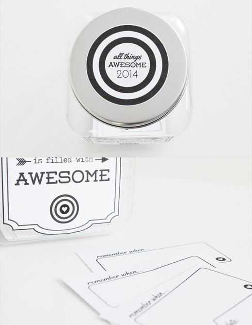 twenty fourteen is going to be filled with awesome. craft your own jar of awesome with these free printables.