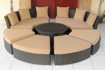 11 Best Images About Wicker Sectionals On Pinterest Miami Curved Sofa And Positano