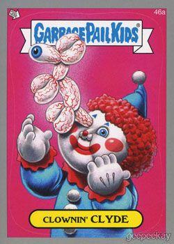 Garbage Pail Kids Balloon Clown 2014 Series 1 Parallel Cards   GEEPEEKAY