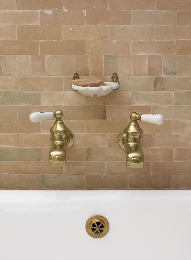 Brick Bath Brass Hardware Bathrooms Pinterest Bricks Bath And Brass Hardware
