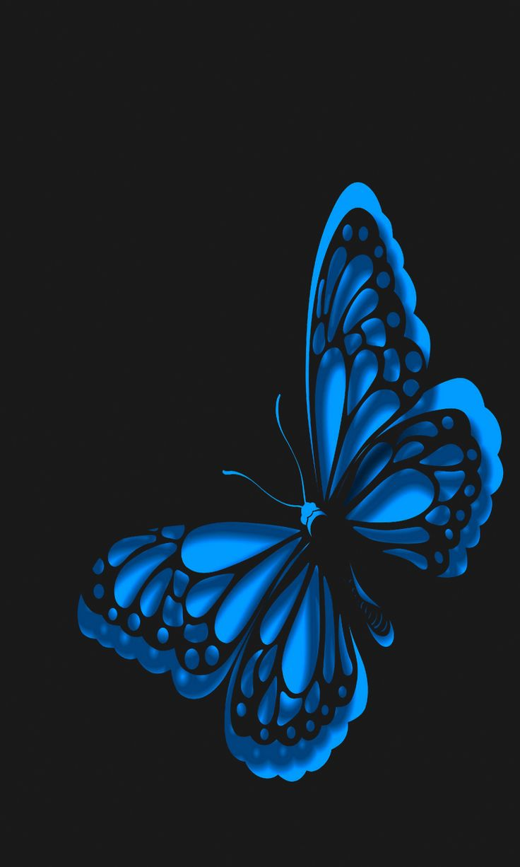 Neon Blue Butterflies