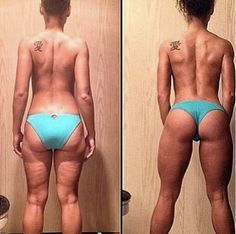 avant-et-après-changement-nutrition-et-entraînement-squat-femmes-de-dos-qui-a-perdu-du-gras-enlever-la-cellulite-la-eau-d'orange-squat