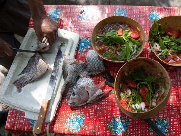 Caldo De Piedra - Oaxaca Mojarra Soup  The Final Ingredient to This Mexican Soup? A Hot Rock to Cook It