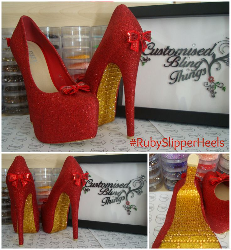 The Wizard of Oz (Ruby Slipper heels with yellow brick road.)