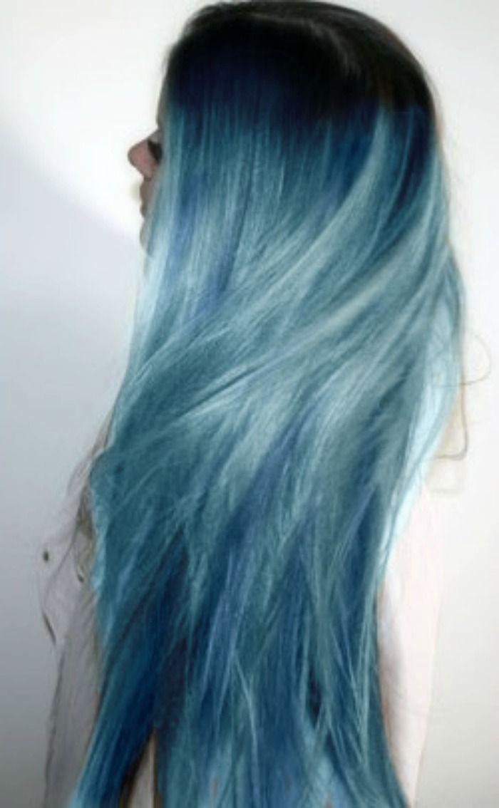 blue grunge hair//Indie Punk Goddess