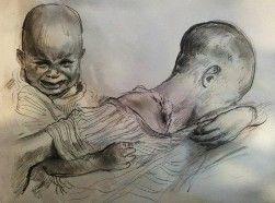 """Suffering"" - Pencil on Paper, 21/29cm"