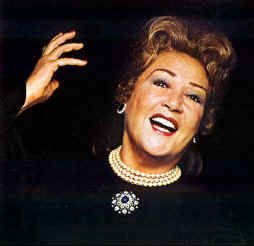 "Ethel Merman (1908 – 1984) - American actress and singer. Known primarily for her powerful voice and roles in musical theatre, called ""the undisputed First Lady of the musical comedy stage."" Some of her best known songs ""I Got Rhythm"", ""Everything's Coming Up Roses"", ""Some People"", ""Rose's Turn"", ""I Get a Kick Out of You"", ""It's De-Lovely"", ""Friendship"", ""You're the Top"", ""Anything Goes"", and ""There's No Business Like Show Business"", this  became her theme song. - Requiescant in pace"