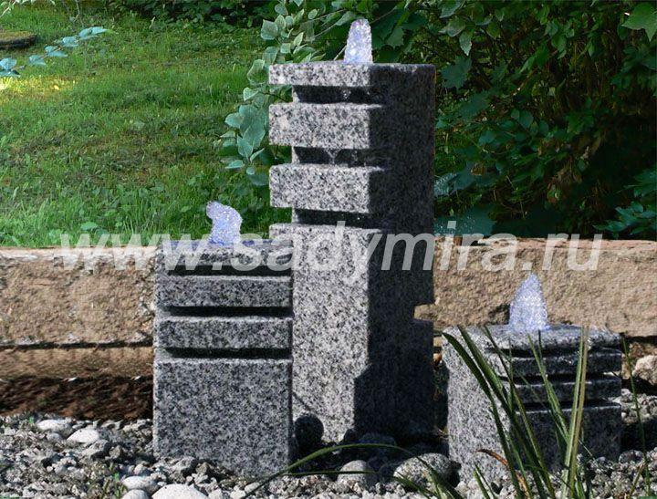Купить мини-фонтаны для сада в Мск, СПб, РФ