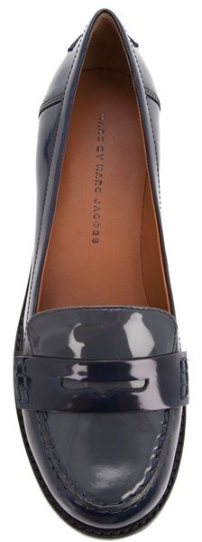 Marc By Marc Jacobs Blue Patent Loafer