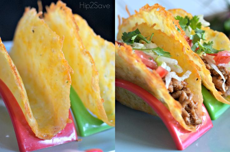 Learn hoe to make these NO CARB taco shells using just shredded cheese! They are SO yummy!