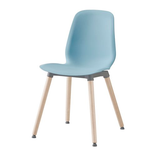 IKEA - LEIFARNE, Chair, You sit comfortably thanks to the restful flexibility of the scooped seat and shaped back.The self-adjusting plastic feet adds stability to the chair.A special surface treatment on the seat prevents you from sliding.The chair legs are made of solid wood, which is a durable natural material.