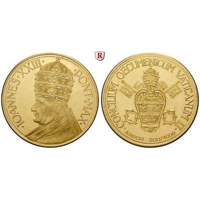 Vatikan, Johannes XXIII., Goldmedaille o.J., 17,97 g fein, PP: Johannes XXIII. 1958-1963. Goldmedaille 17,97 g fein,… #coins #numismatics
