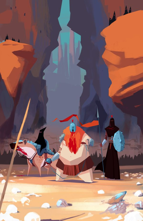 RTS game - Visual Development on Behance. Sometimes I have little attacks of excitement because the colors in a composition are so perfect it puts me over the edge. nbd