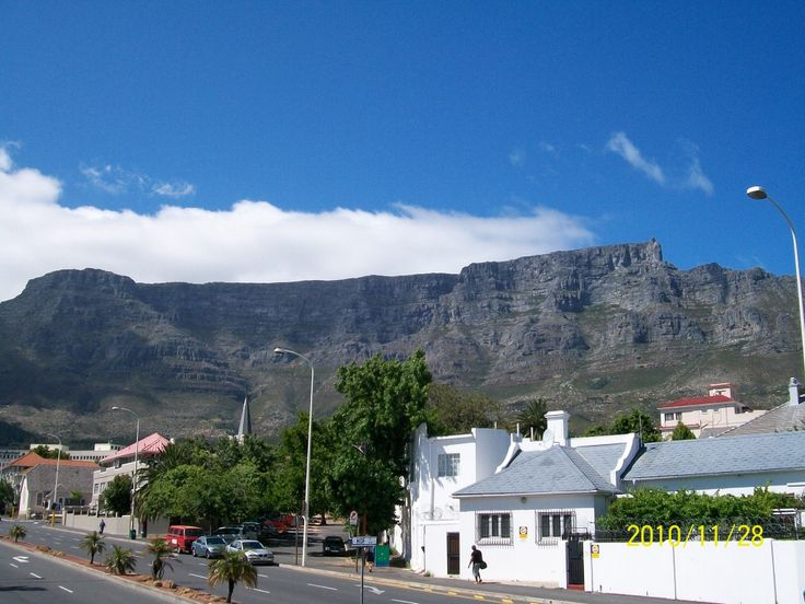 Table Mountain - The most famous land mark in Cape Town.