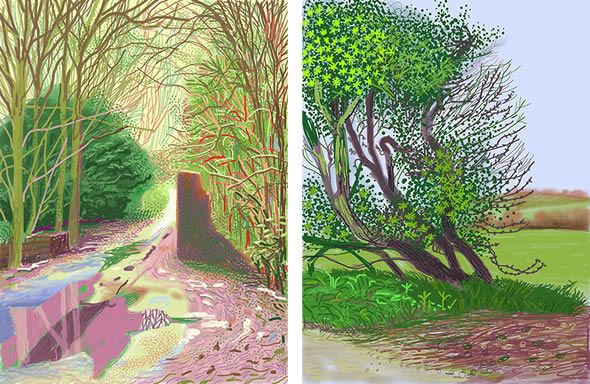 David Hockney creations on the iPad - exhibition at the Royal Academy was amazeballs!