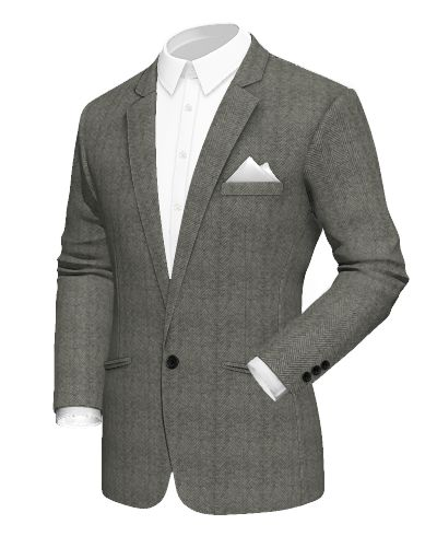 Grey herringbone wool Blazer - http://www.tailor4less.com/en-us/men/blazers/2416-grey-herringbone-wool-blazer