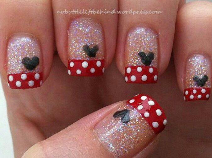 Minnie Mouse Nail Art Disney Disneynailart Disneynails Nailart Disney Nails Mickey Nails Disneyland Nails