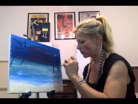 Fireside Beach Step by Step Acrylic Painting on Canvas for Beginners - YouTube