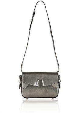 Tri-Fold Bag In Printed Metallic With Rhodium