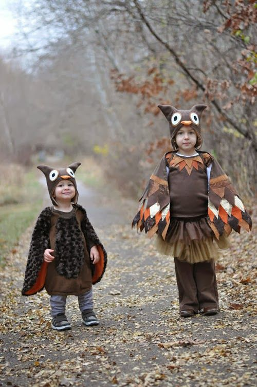 Homemade Hooty Owl Costume  make with children's place pink owl hat and make feathers etc. pink