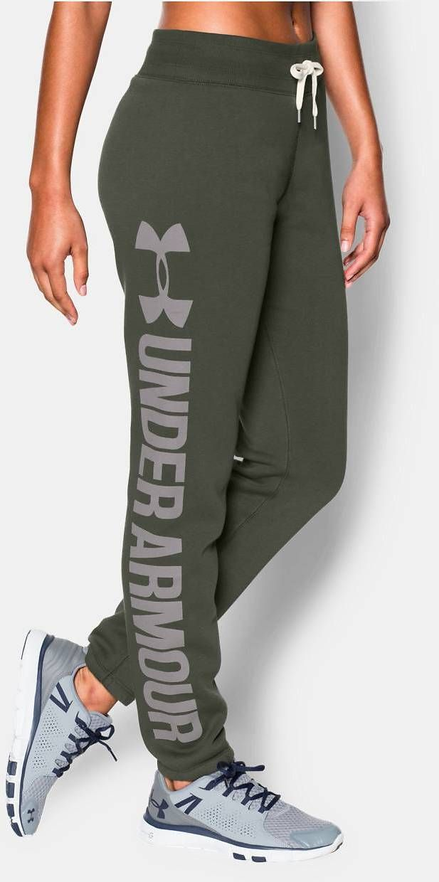 Women's UA Favorite Fleece Word Mark Boyfriend Pant | Under Armour US